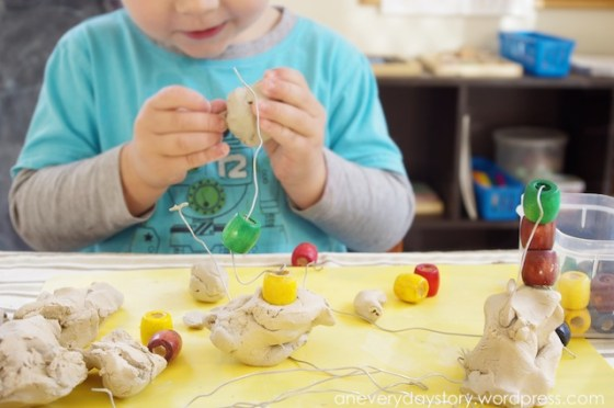 reggio working with clay Using Clay: Wire and Bead Sculptures