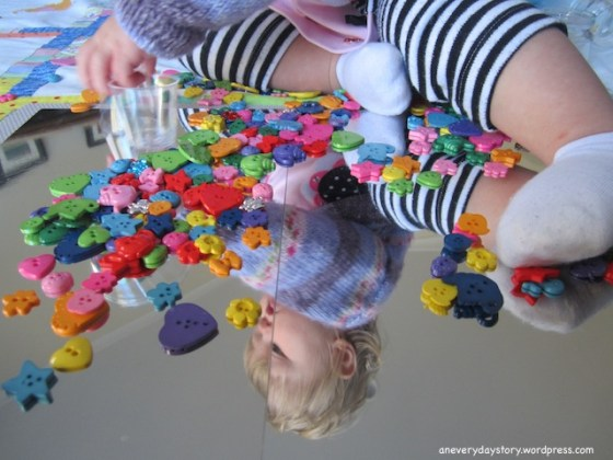 reggio activities for toddlers using mirrors and buttons an everyday story Mirrors & Buttons: A Reggio inspired Activity for Sarah