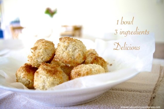 coconut macaroons recipe childrens recipes montessori One Bowl, Three Ingredients: Coconut Macaroons