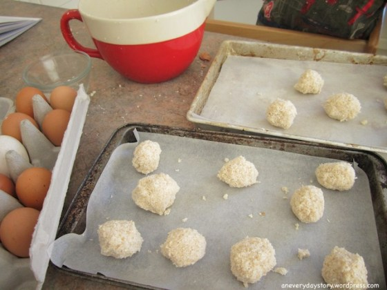 montessori practical life ccoking with children simple recipes One Bowl, Three Ingredients: Coconut Macaroons