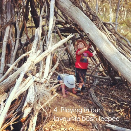outdoor play 4 natural teepee an everyday story This Week 8/52