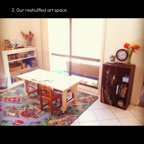 reggio art area for preschoolers an everyday story This Week7/52