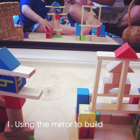 reggio emilia activities block corner using mirrors to build an everyday story This Week… 6/52