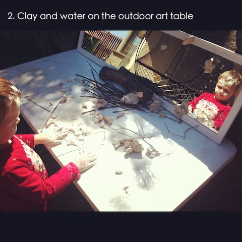 reggio emilia activities clay and mirrors an everyday story This Week… 6/52