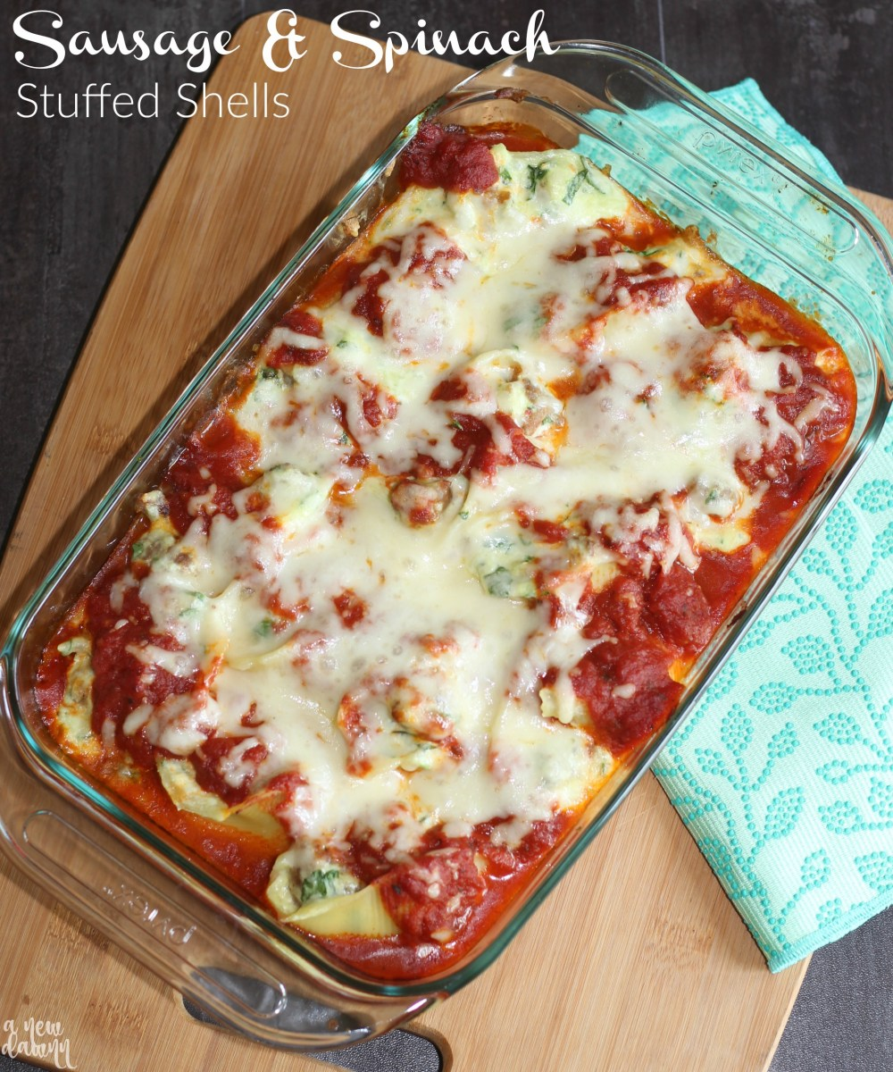 Sausage & Spinach Stuffed Shells Recipe + My Easy Clean Up Secret
