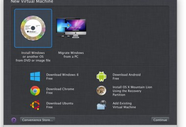 Parallels Desktop 8 for Mac: new virtual machine installation