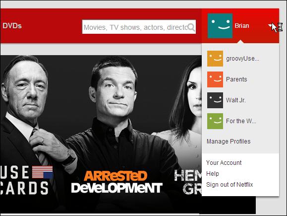 Netflix User List