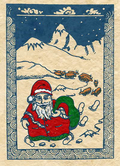 Santa Holiday Card from Everest