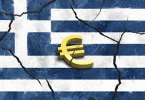 Greek Flag with Euro