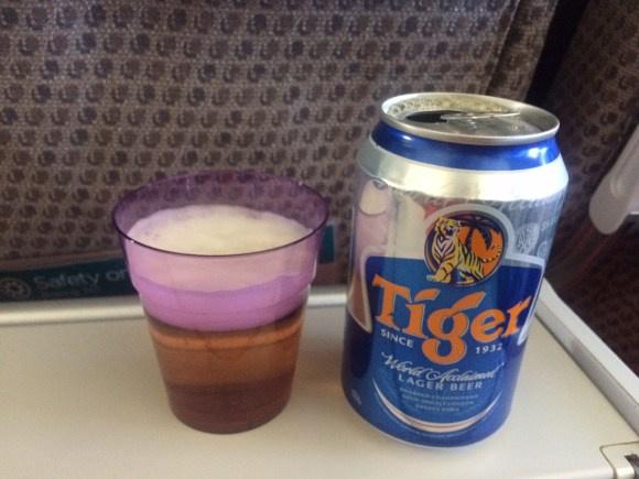 airplane food comparison Tiger Indian beer