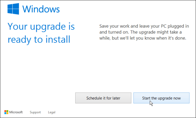 how to upgrade windows 8.1 to windows 10 start upgrade