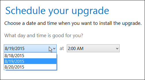 how to upgrade windows 8.1 to windows 10 schedule upgrade