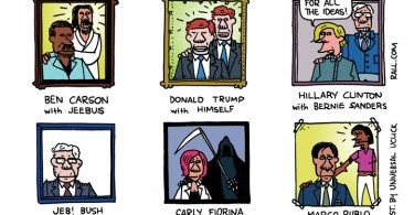 Portraits of the Candidates with their Favorite Deities