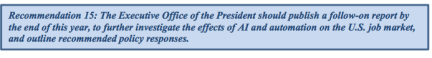 White House AI report economic impacts