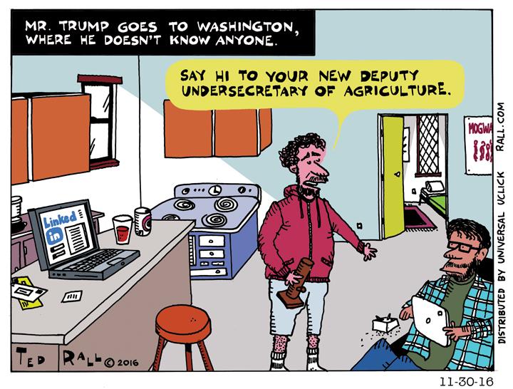 Mr. Trump Goes To Washington [cartoon]