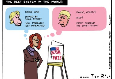 hillary clinton ted rall who should i vote for