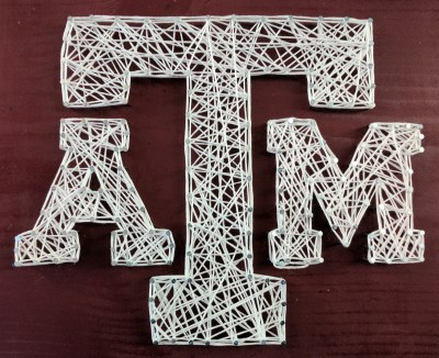 Texas A&M pegboard
