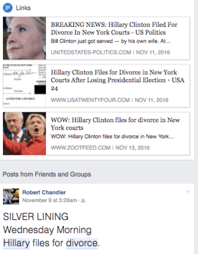 Breaking News: Hillary Clinton Filed for Divorce in New York Courts