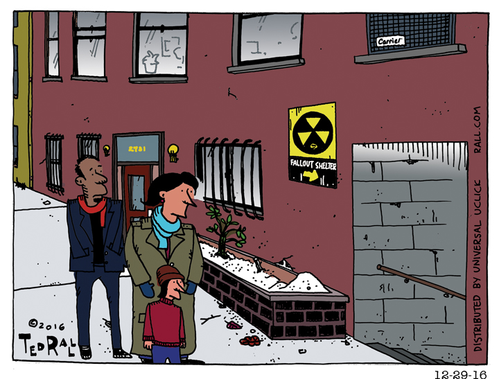 ted rall cartoon fallout shelter