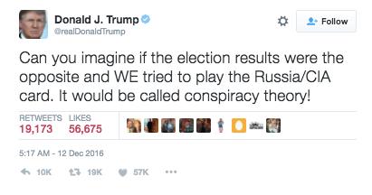 donald trump cia tweet treason dworkin