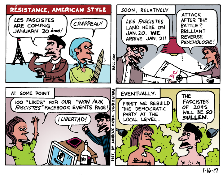 Ted Rall: This Is The Resistance, American Style [cartoon]