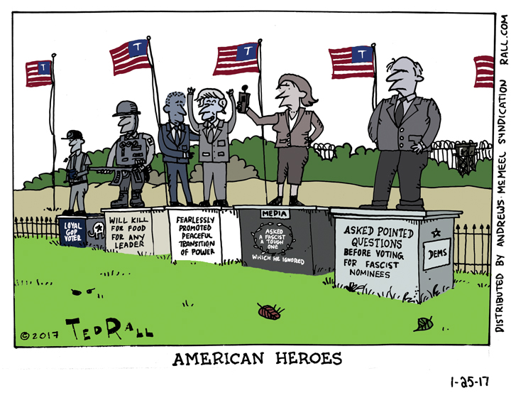 Ted Rall: American Heroes in the Age of Trump [cartoon]