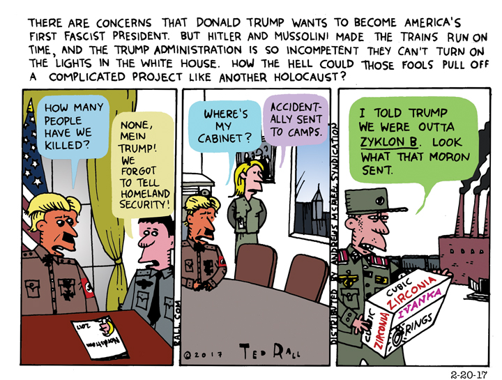 Ted Rall: Why Donald Trump Is No Mussolini — and No Hitler, Either