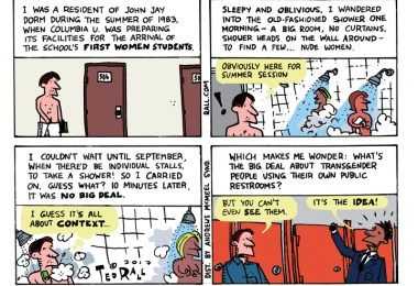 Ted Rall bathroom wars transgender bathrooms