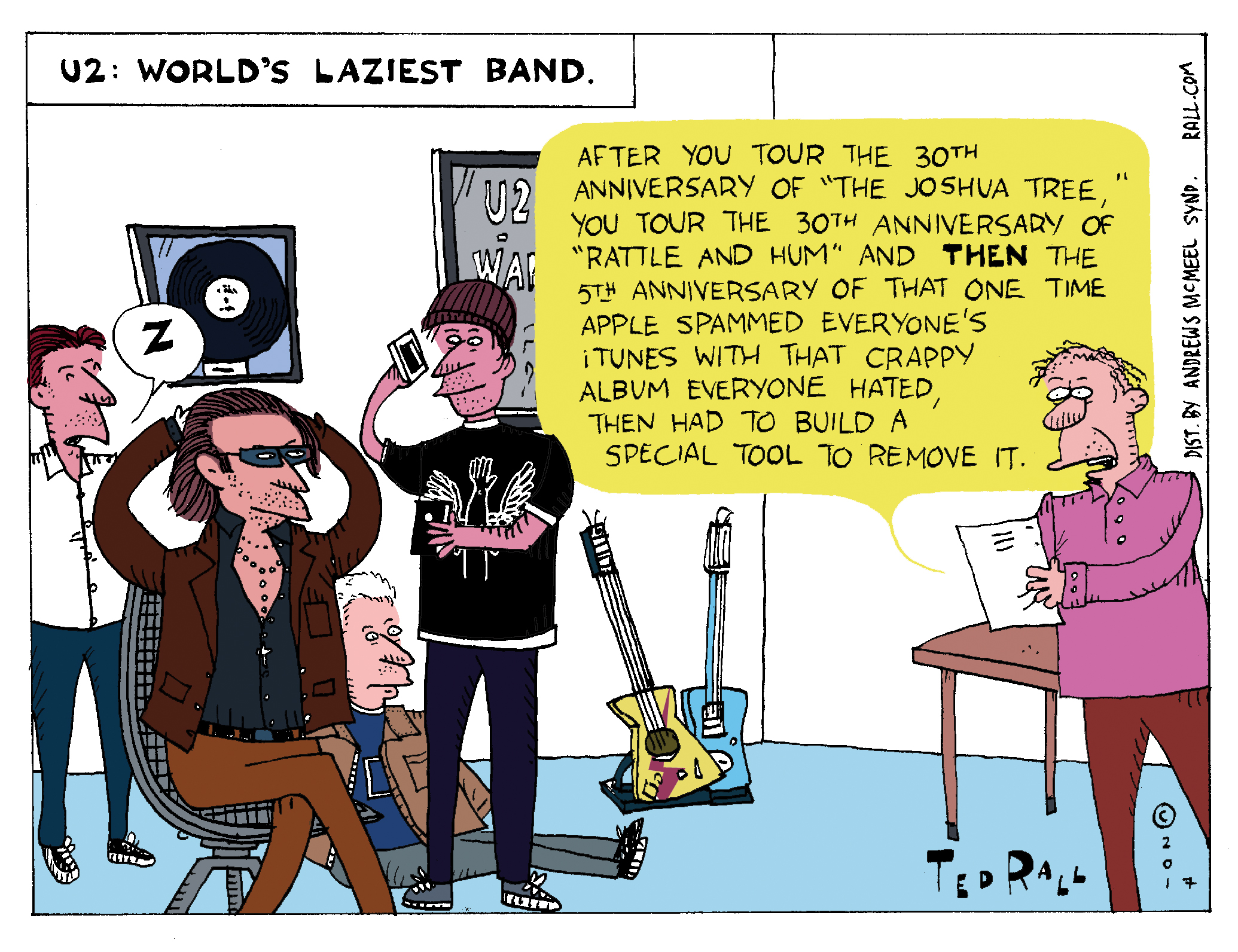 Thirty Years Later, This Is U2: The World's Laziest Band [cartoon]