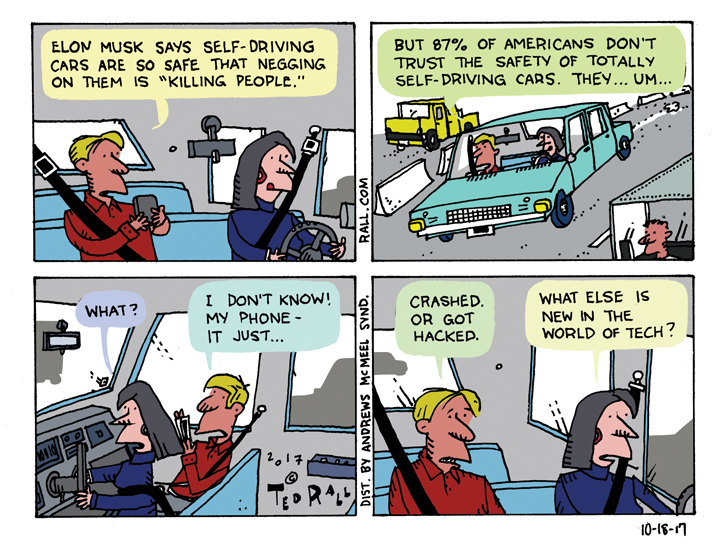 Self-Driving Cars: It's More Than A Matter of Trust  [cartoon]