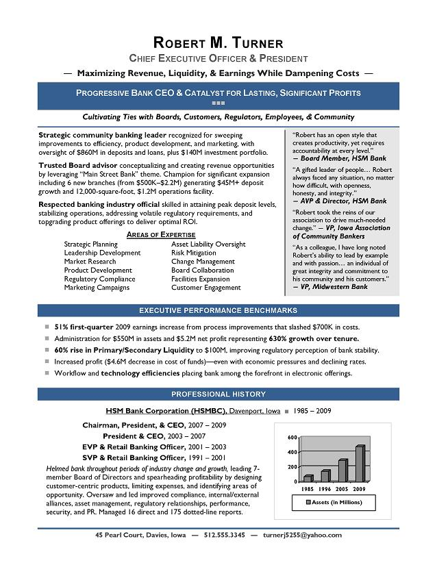 best ceo resume examples