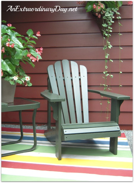 Adirondack Chair on Handpainted Canvas Floor Cloth ! AnExtraordinaryDay.net
