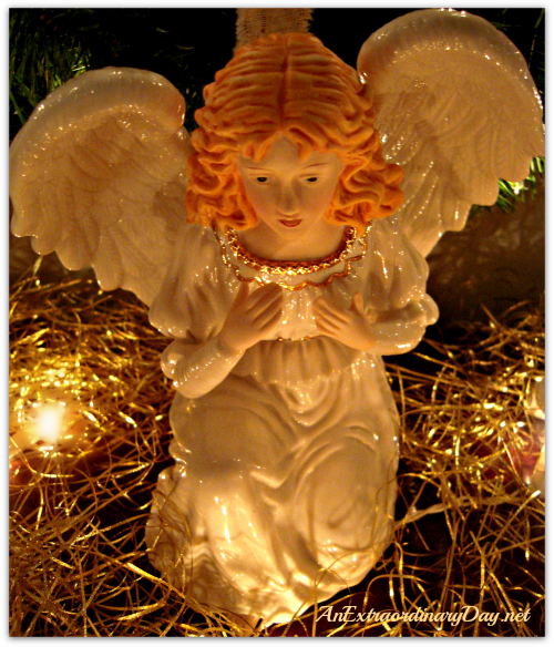 AnExtraordinaryDay.net - Christmas Decor - Angel from the Nativity - A place of joy and inspiration - Mantel ideas