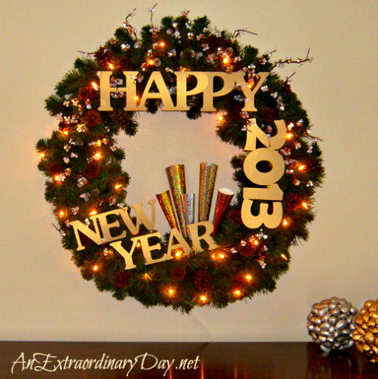 New Year's Wreath - AnExtraordinaryDay.net