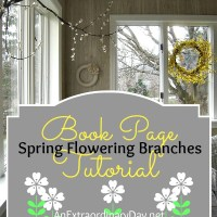 Create Your Own Spring-Flowering Branches :: A Book Page Flower Tutorial