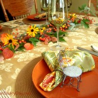 The Colors of Fall in a Table Setting :: Fall...It's Extraordinary!