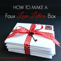 How to Make a Faux Love Letters Box