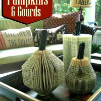 Who Guessed You Could Make Pumpkins and Gourds from Paperback Books?