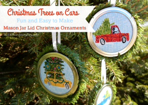 Fun and Easy to Make Mason Jar Lid Christmas Ornaments