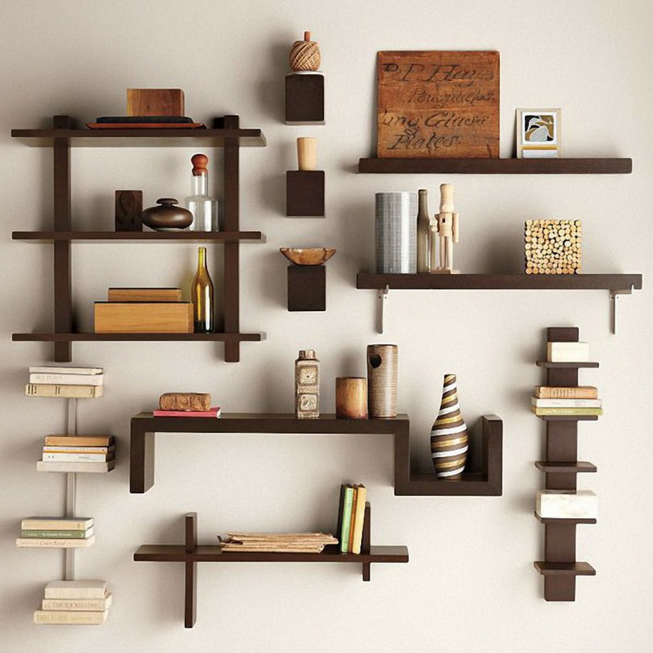 Shelf Design Ideas Splendid Dark Brown Wall Shelves Design Ideas And Cute Small Shelf