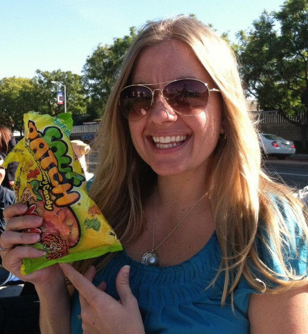 I found this picture from 2013, in case you thought I was joking about the Sour Patch Kids. I don't joke about candy.