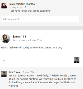 google community comments