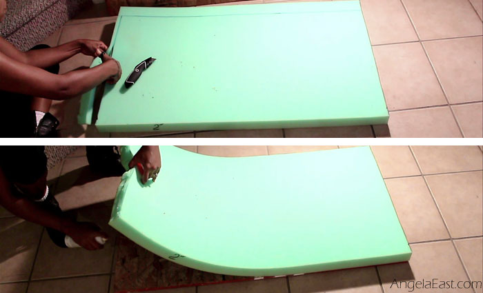 IKEA Hack: How to transform an Ikea Lack Table into a window bench seat at angelaeast.com #homedecor #diy