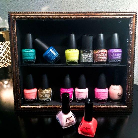 Nail Polish Stand DIY |DollarTree DIY |Finger nail Polish Storage | Home DIY | Home Decor on a Budget | Inexpensive storage | Teen Bedroom Decor | Girly decor