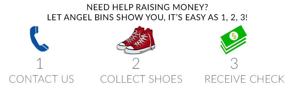 Angel Bins Fundraising Raise Money for Your Cause by Recycling Shoes
