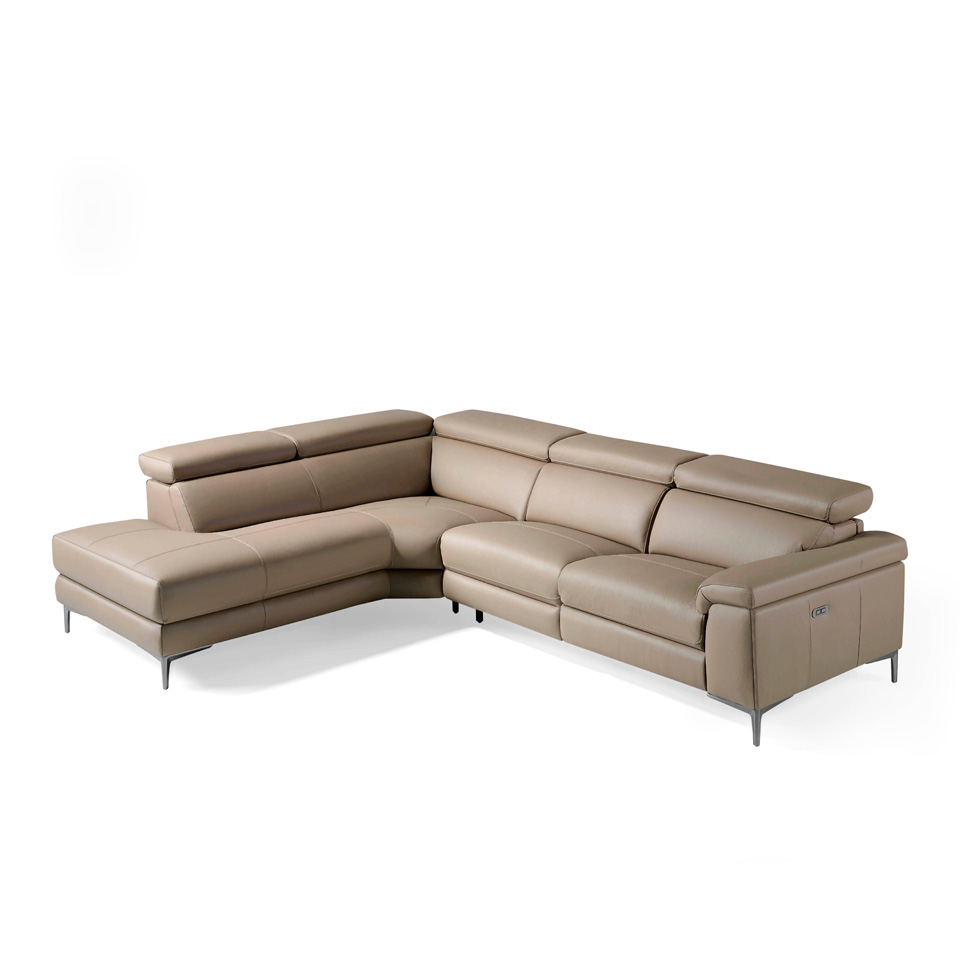 Corner Sofa Upholstered In Leather And Stainless Angel Cerdá S L