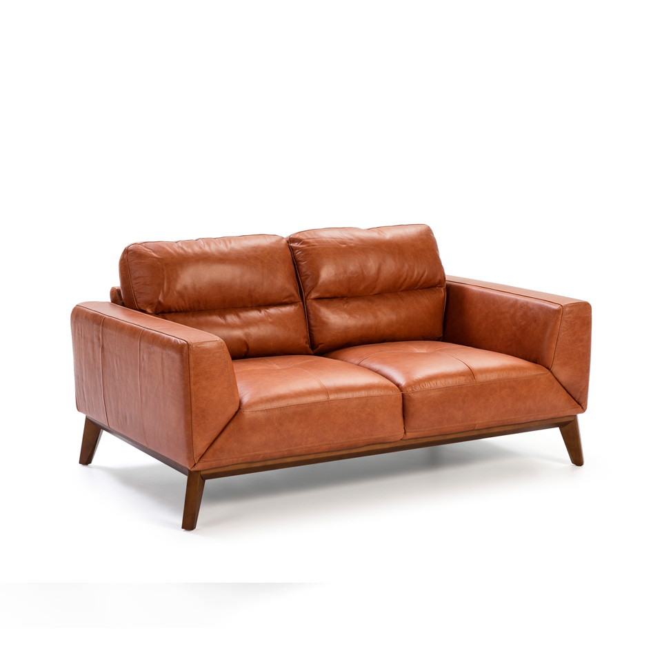 2 Seat Sofa Made Of 2mm Thick Cowhide Leather Angel Cerdá S L