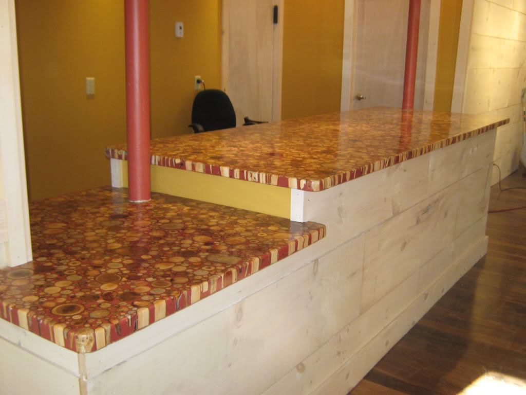 Red Solid Surface Countertops Quotbarre Pinske Twig And Resin Quot