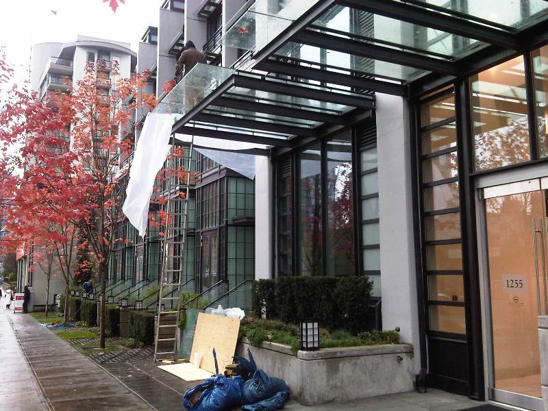 Wall Frames Vancouver Commercial Glass Canopy Vancouver North West Burnaby