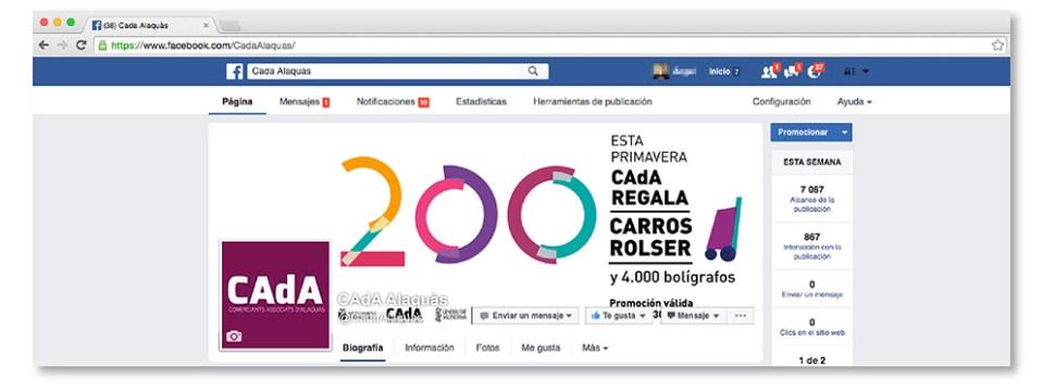 cabecera facebook CAdA Alaquas regalo concurso rolser carro redes sociales publicidad